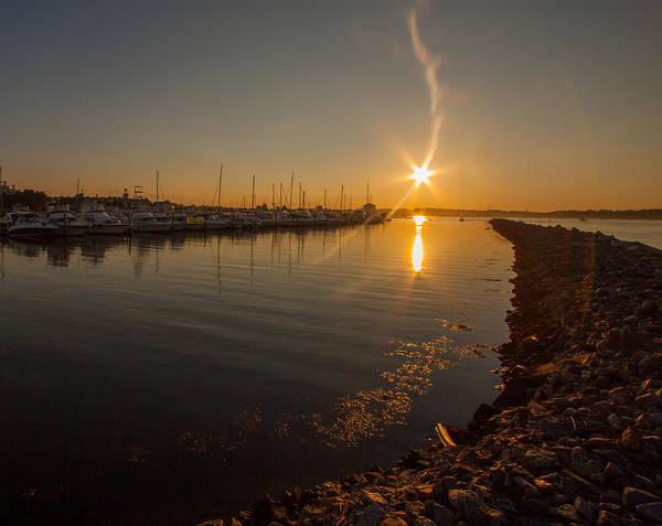 Photograph - Marina Bay Sunset by Brian MacLean