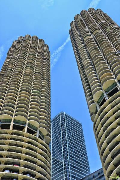 Photograph - Marina City # 2 - Chicago by Allen Beatty