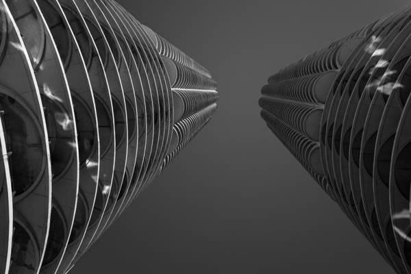 Twin Cities Photograph - Marina City View by Steve Gadomski
