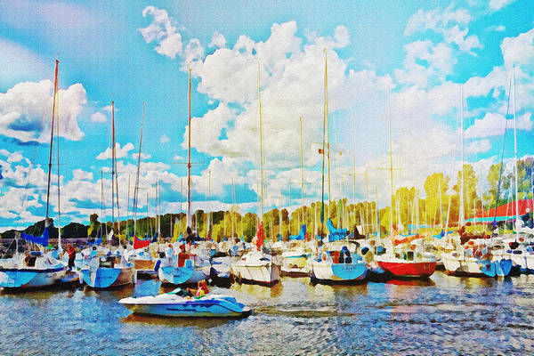 Photograph - Marina In The Summertime by Tatiana Travelways
