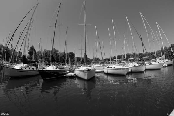 Photograph - Marina On Lake Murray S C Black And White by Lisa Wooten