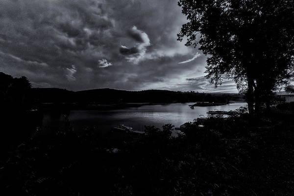 Photograph - Marina Sunset Black And White by Tom Singleton