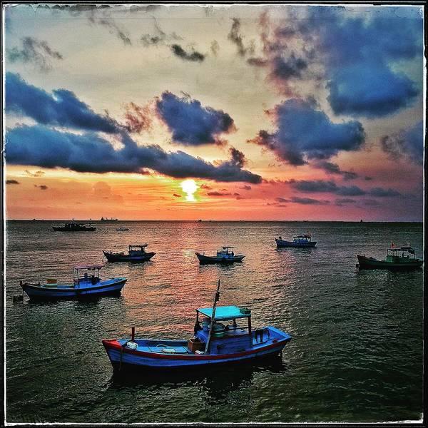 Vung Tau Photograph - Marina Sunset by Britt Traynham