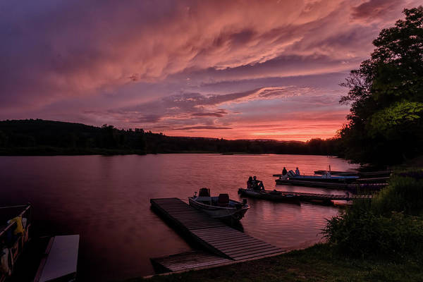 Photograph - Marina Sunset II by Tom Singleton