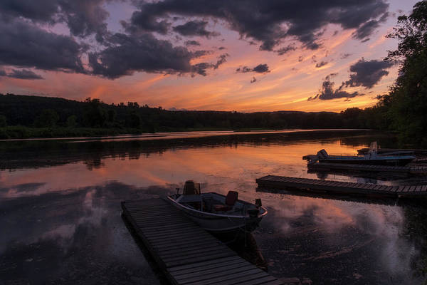 Photograph - Marina Sunset IIi by Tom Singleton