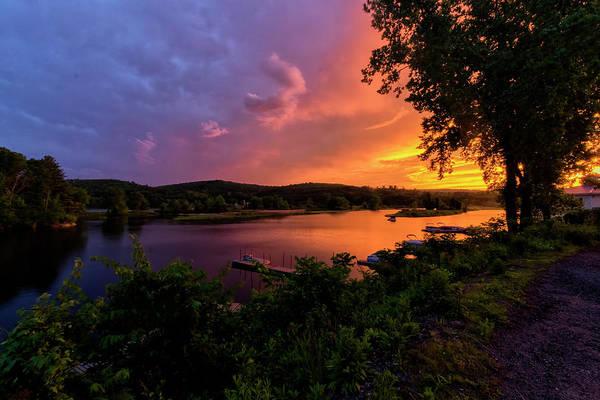 Photograph - Marina Sunset by Tom Singleton