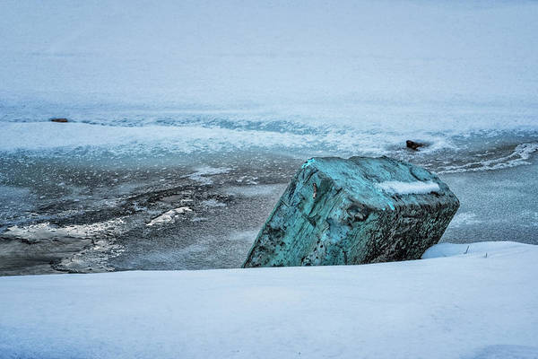 Photograph - Marina Winter Ice by Tom Singleton