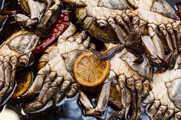 Photograph - Marinated Fresh Crabs At The Market by James BO Insogna