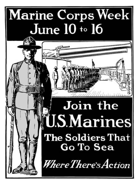 Propaganda Mixed Media - Marine Corps Week - Ww1  by War Is Hell Store