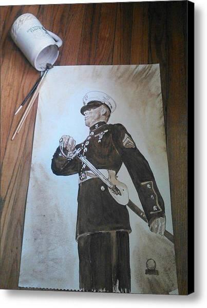 Wall Art - Painting - Marine Dress by Nathanael Manzer