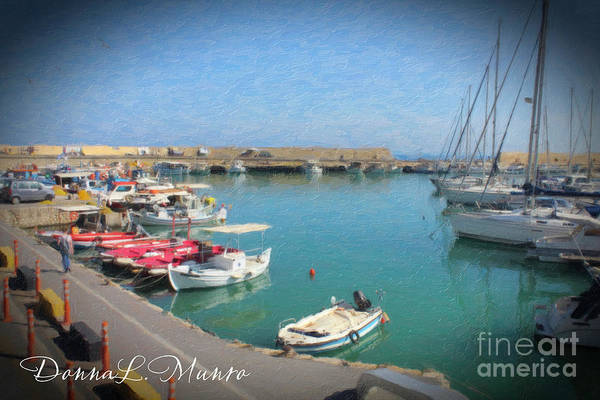 Painting - Marine Harbour Scene by Donna L Munro