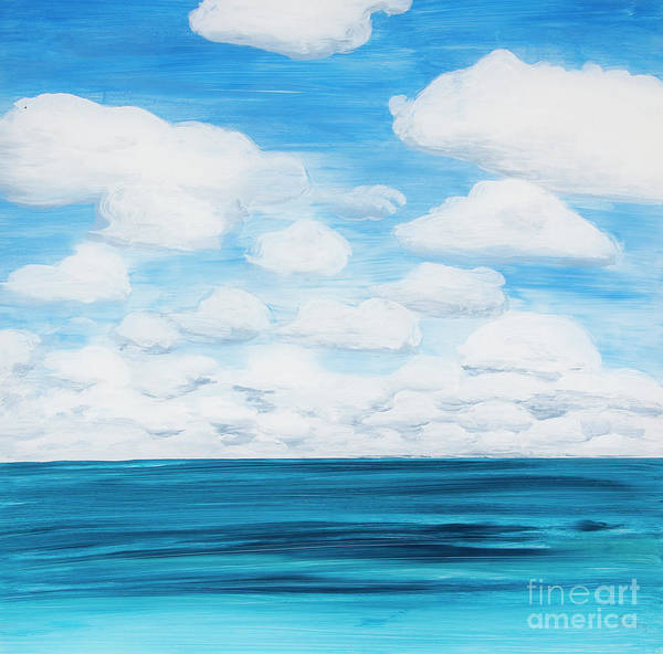Marine Layer Breaking Up Art Print
