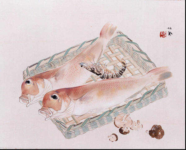 Angler Art Painting - Marine Products  by Takeuchi Seih