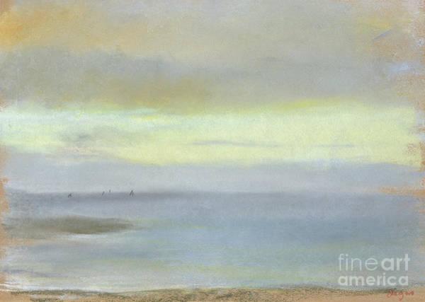 Edgar Wall Art - Painting - Marine Sunset by Edgar Degas