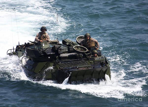 Aav Photograph - Marines Operate An Amphibious Assault by Stocktrek Images
