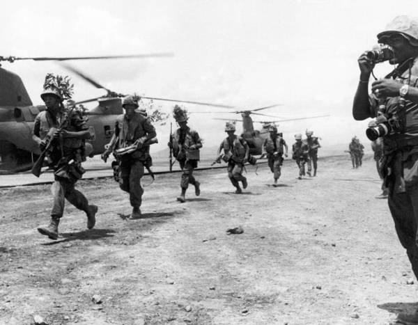 Photograph - Marines To Dmz by Underwood Archives