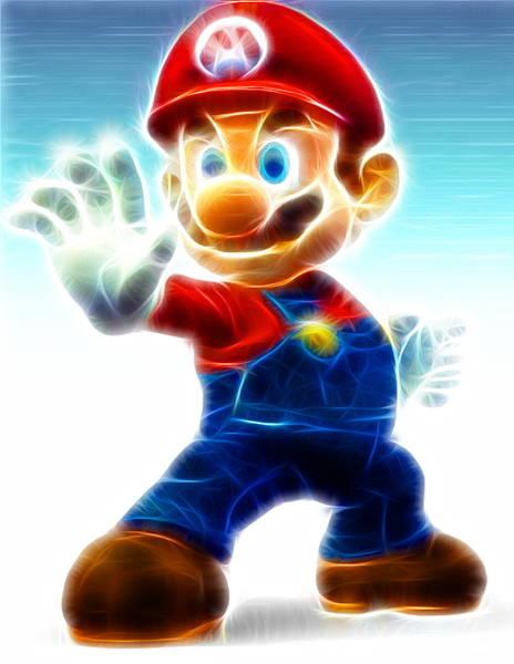 Videogame Painting - Mario by Paul Van Scott