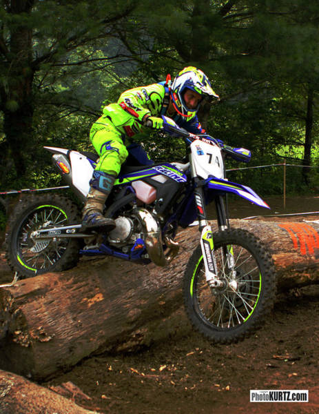 Photograph - Mario Roman Crossing At Enduro by Jeff Kurtz