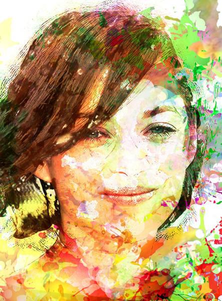 Marion Cotillard Wall Art - Digital Art - Marion Cotillard by Elena Kosvincheva
