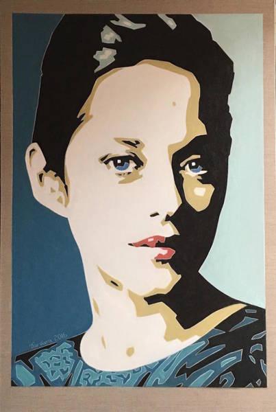 Marion Cotillard Wall Art - Painting - Marion Cotillard by Varvara Stylidou