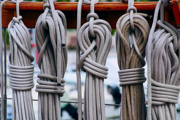 Aft Photograph - Maritime Rope And Knot Work by Daniel Hagerman