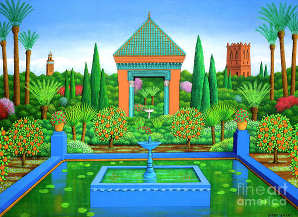 Wall Art - Painting - Marjorelle Oranges by Larry Smart