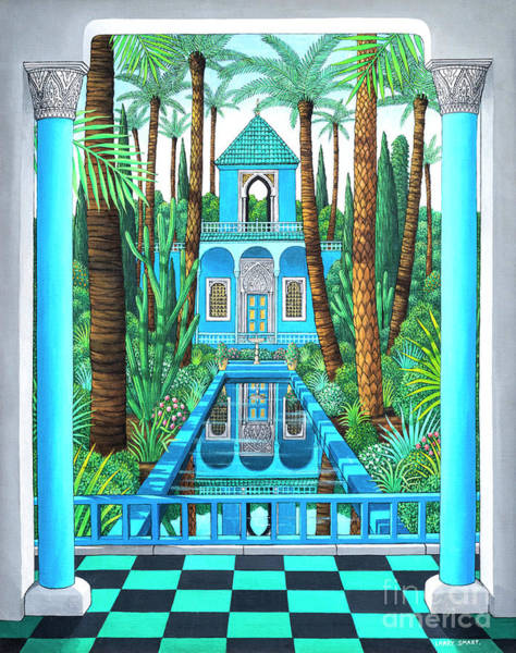Wall Art - Painting - Marjorelle Reflections by Larry Smart