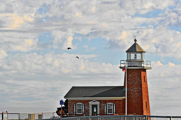 Wall Art - Photograph - Mark Abbott Memorial Lighthouse  - Home Of The Santa Cruz Surfing Museum Ca Usa by Christine Till