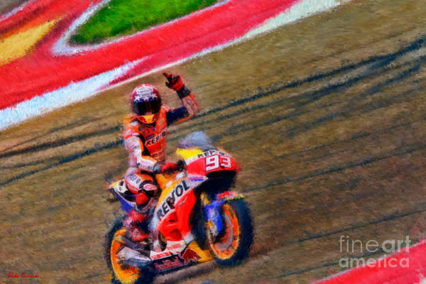 Photograph - Marc Marquez Waves To Austin by Blake Richards