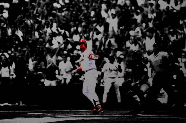 St Louis Cardinals Mixed Media - Mark Mcgwire Its Outta Here by Brian Reaves