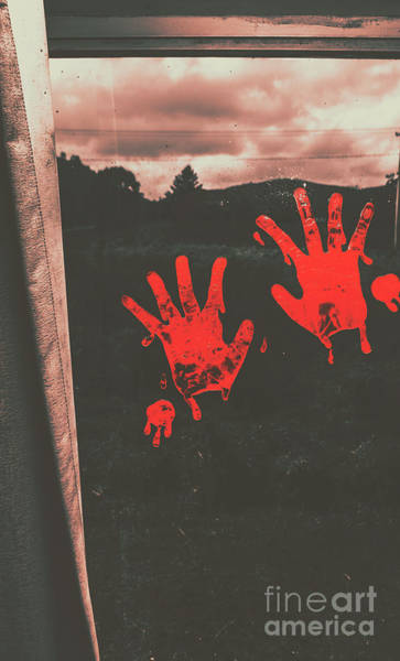 Hand Painted Photograph - Mark Of Murder by Jorgo Photography - Wall Art Gallery