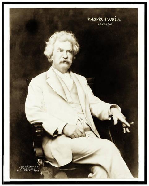 Photograph - Mark Twain by Carlos Diaz