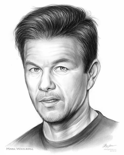 Actor Drawing - Mark Wahlberg by Greg Joens