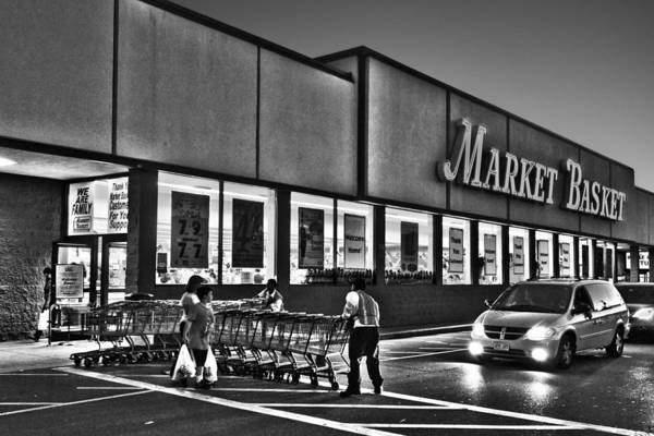 Photograph - Market Basket Somerville Ma Black And White by Toby McGuire