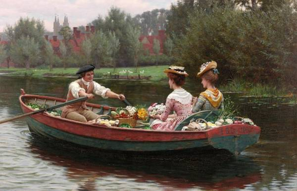 1900 Wall Art - Painting - Market Day by Edmund Blair Leighton
