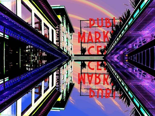 Pikes Place Wall Art - Digital Art - Market Entrance by Tim Allen