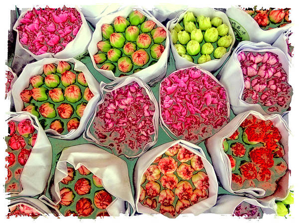 Market Flowers - Hong Kong Art Print