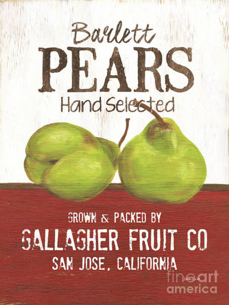 Pears Wall Art - Painting - Market Fruit 1 by Debbie DeWitt