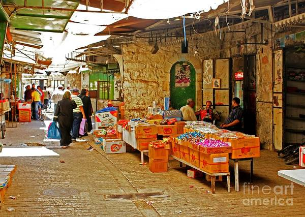 Photograph - Market In Hebron 3 by David Birchall