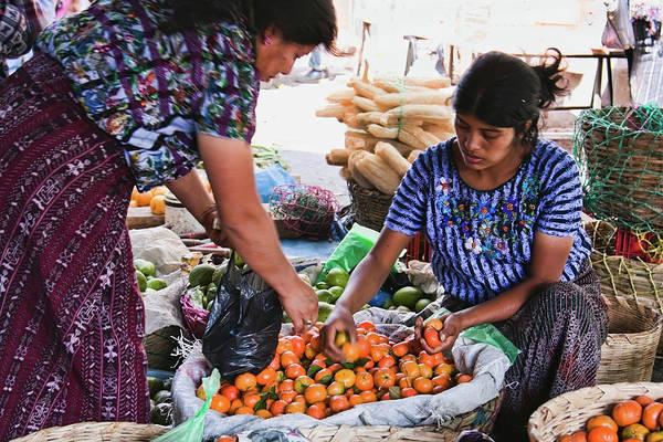 Photograph - Market In Santiago Atitlan, Guatemala by Tatiana Travelways