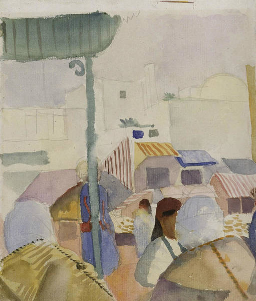 Painting - Market In Tunis II  by August Macke