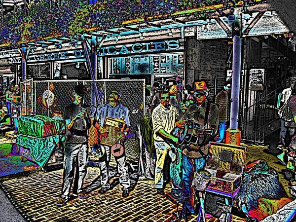 Busker Wall Art - Digital Art - Market Interlude 2 by Tim Allen