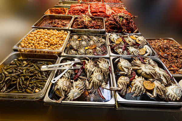 Photograph - Market Place Crabs And More by James BO Insogna