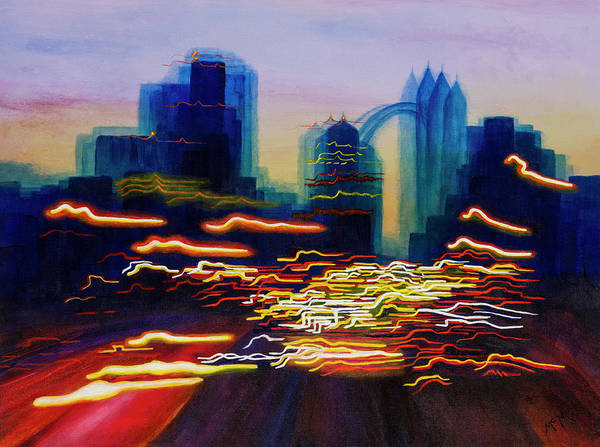 Painting - Market Street Nocturne by Garry McMichael
