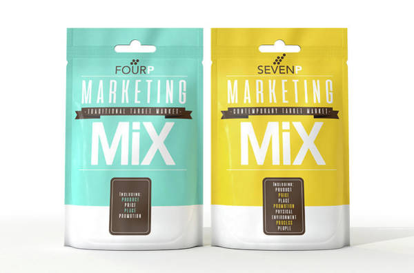 Ingredients Digital Art - Marketing Mix 4 And 7 P's by Allan Swart