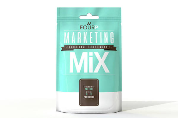 Ingredient Digital Art - Marketing Mix 4 P's by Allan Swart