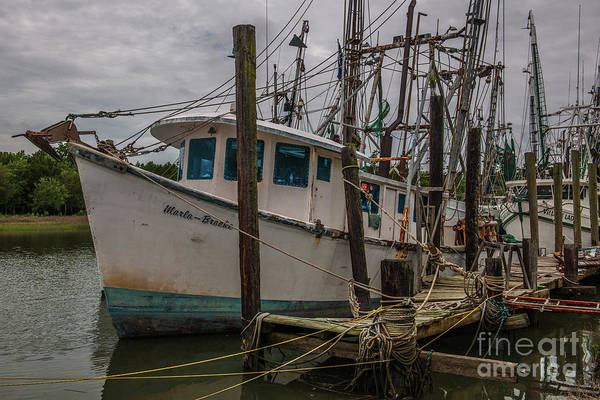 Photograph - Marla Brooke Shrimp Boat Docked In Mccellanville Sc by Dale Powell