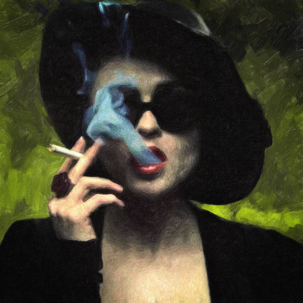 Wall Art - Painting - Marla Singer by Zapista Zapista