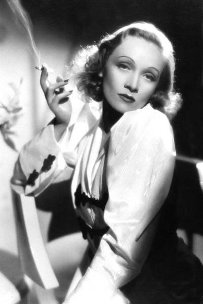 Sultry Photograph - Marlene Dietrich by American School