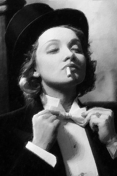 Painting - Marlene Dietrich by Tony Rubino
